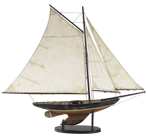 Newport Sloop Wooden Model Sailboat Authentic Models