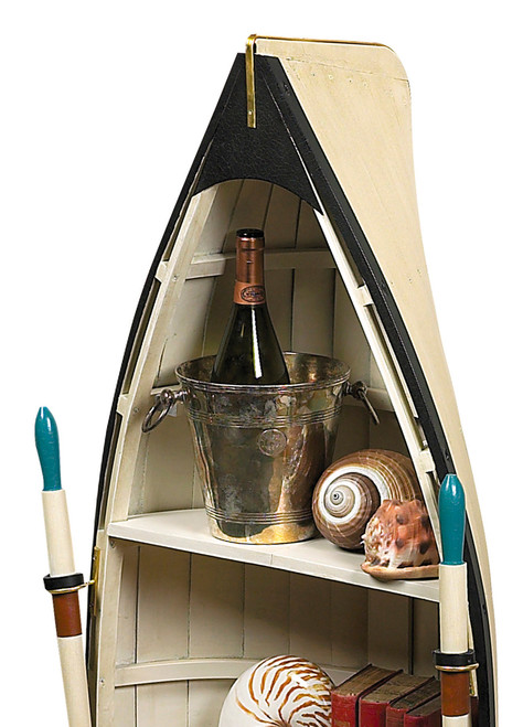 Dory Bookshelf Glass Table Wood Boat Shelf