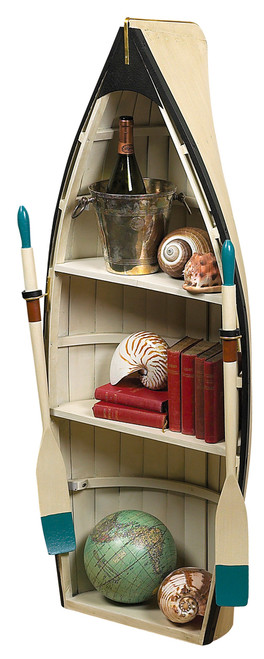 Dory Bookshelf Glass Table Rowing Boat Bookcase