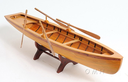 Handcrafted Boston Whitehall Tender Boat Wood Model