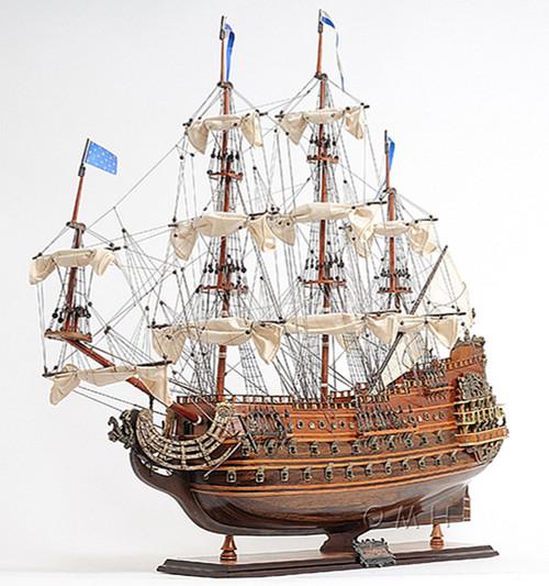 Soleil Royal Wooden Tall Ship Sailboat Model