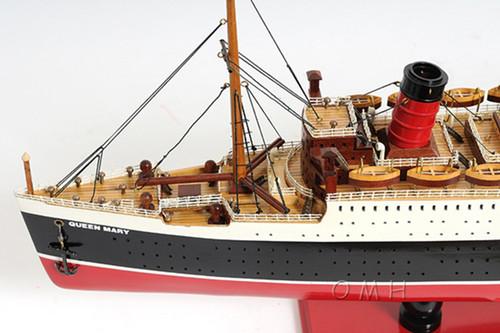 Queen Mary Model Wooden Ocean Liner