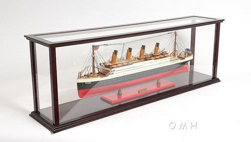Ocean Liner Cruise Ship Model Display Case