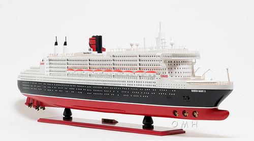 Queen Mary 2 Ocean Liner Wooden Model Cruise Ship