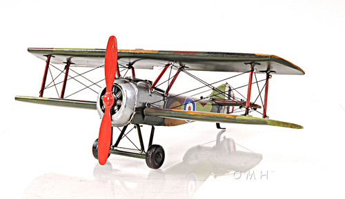 Sopwith Camel F.1 Biplane Metal Desk Model