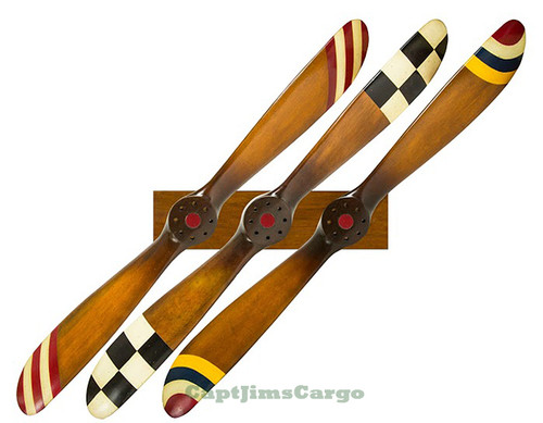 Complete Set Barnstormer Wood Propellers with Rack
