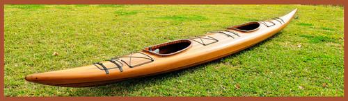 Tandem Cedar Wood Strip Kayak Woodenboat USA