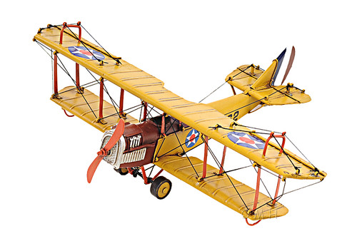 Curtis JN-4 Jenny Biplane Metal Desk Top Model