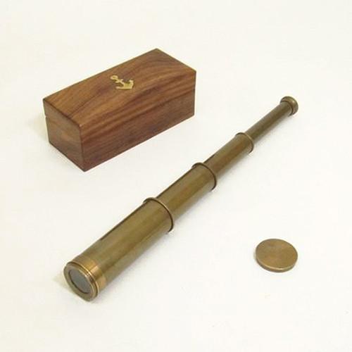 Antiqued Brass Pirate Spyglass Case Handheld Telescope