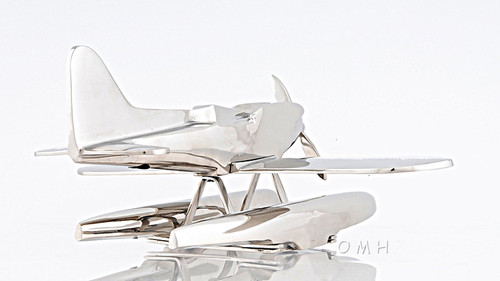Seaplane Pontoon Float Plane Desktop Model Chrome