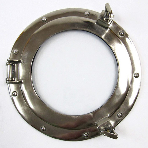 Aluminum Chrome Porthole Glass Window Nautical Wall Decor