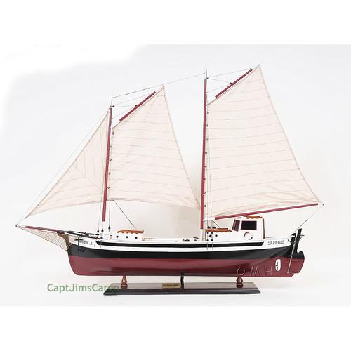 Ships Canada Us Wide Wood Sign: La Gaspésienne Fishing Boat Wooden Schooner Model 43