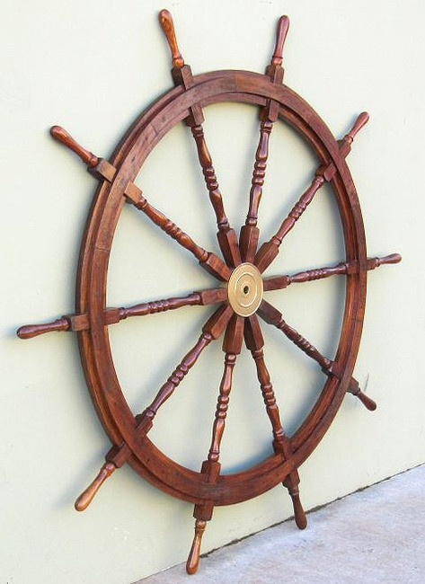 Xl Ship S Steering Wheel 72 Quot Teak Wooden Nautical Wall