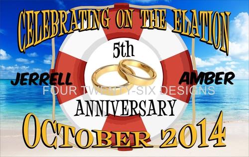 Door Sign Anniversary Rings Custom Cruise Wear