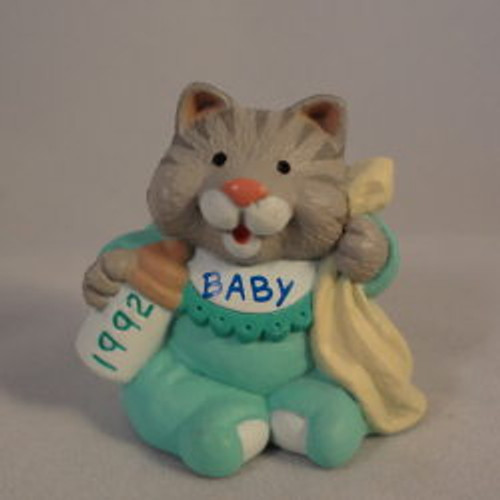 1992 Baby Kitten In Bib