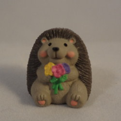 1992 Hedgehog With Flowers