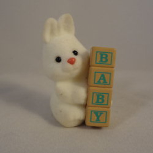 1991 Baby Bunny W Blocks