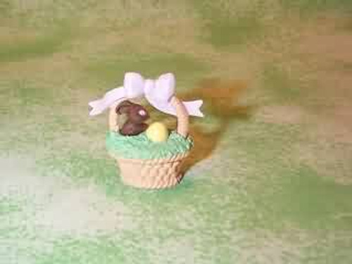 1993 Basket With Chocolate Bunny