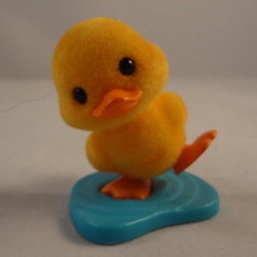 1984 Flocked Duck On Pond
