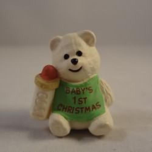 1990 Baby'S 1St Christmas - Bear
