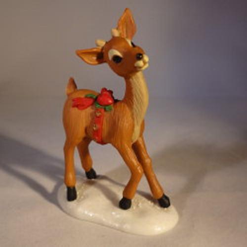1980 Reindeer On Snow Base