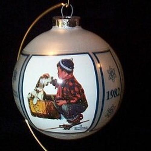 1982 A Boy Meets His Dog 4th-Schmid Ornament