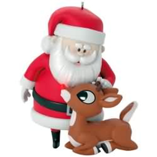 2017 rudolph wont you guide my sleigh tonight hallmark ornament qxi3612 - Rudolph The Red Nosed Reindeer Christmas Decorations