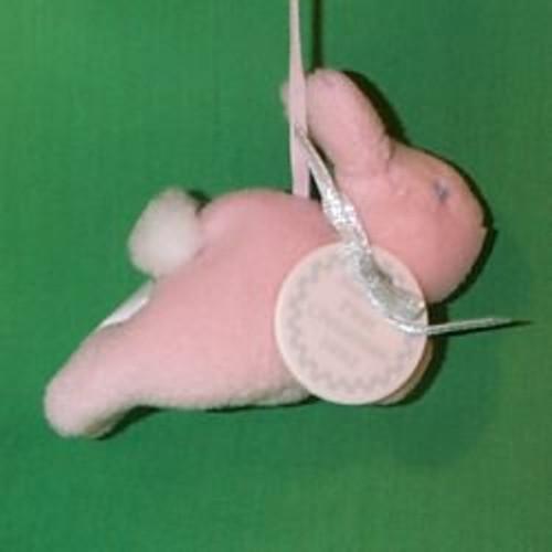 1992 Babys 1st Christmas - Pink Bunny