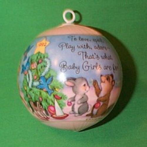 1992 Babys 1st Christmas - Girl