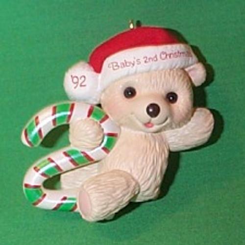 1992 Babys 2nd Christmas - Bear