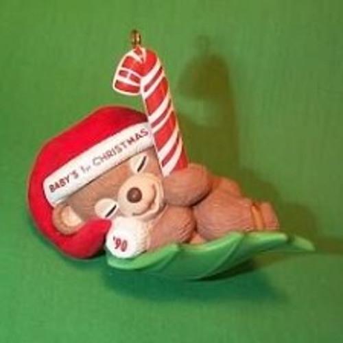 1990 Babys 1st Christmas - Bear