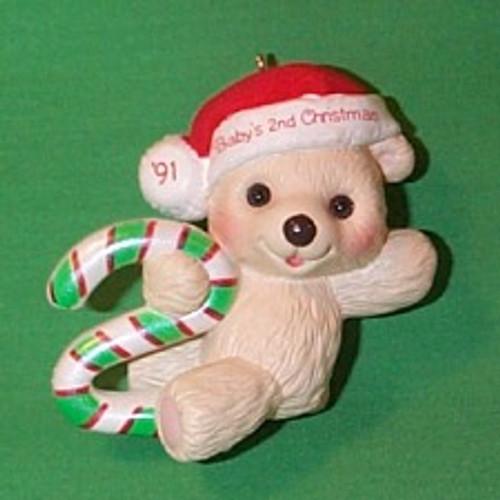 1991 Babys 2nd Christmas - Bear