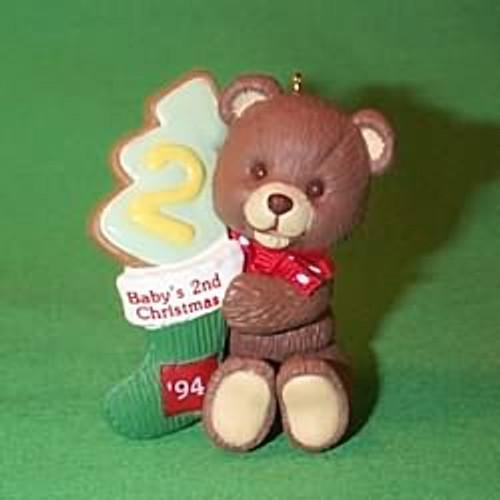 1994 Baby's 2nd Christmas - Bear
