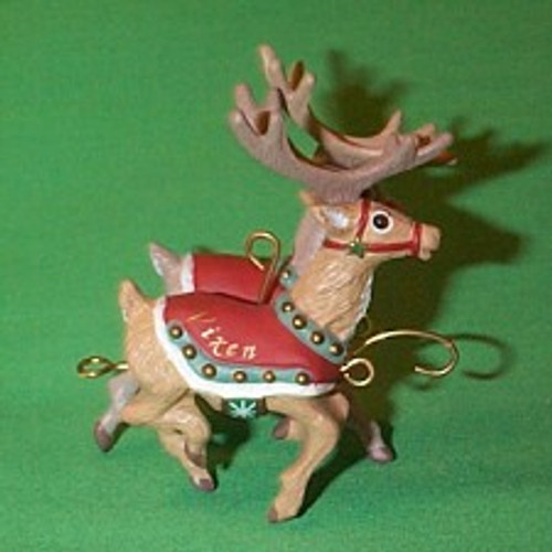 1992 Santa And Reindeer - Prancer And Vixen