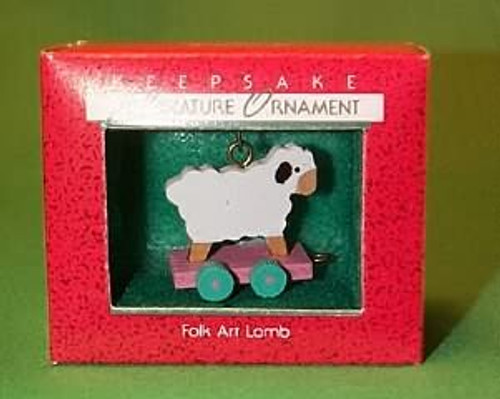 1988 Folk Art Lamb