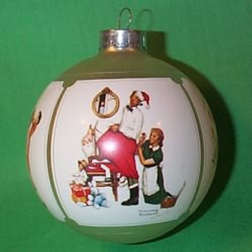 1983 Norman Rockwell Christmas Ornament   The Ornament Shop