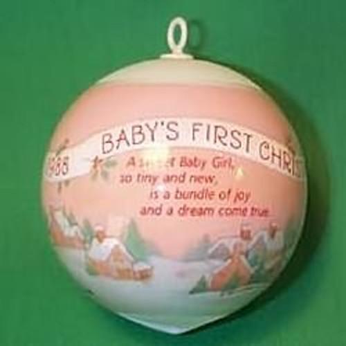 1988 Babys 1st Christmas - Girl