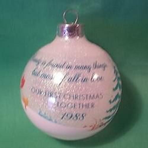 1988 1st Christmas Together - Ball