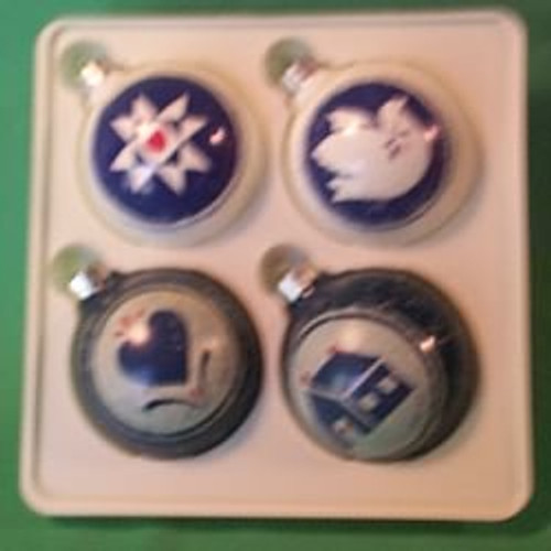 1985 Christmas In The Country - 4 Pc Set