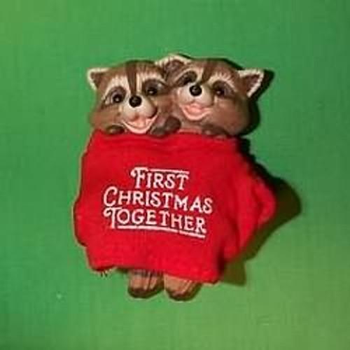 1987 1st Christmas Together - Raccoons