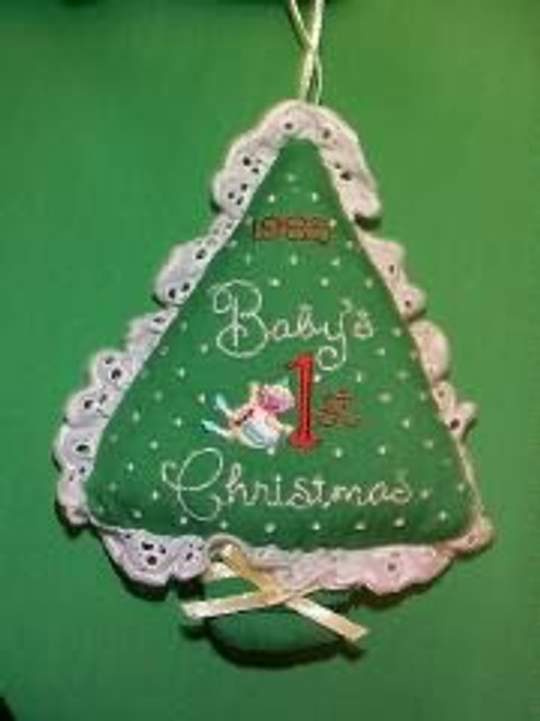 1985 Babys 1st Christmas - Fabric