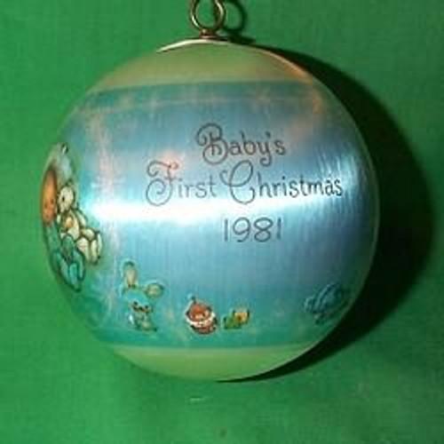 1981 Babys 1st Christmas - Boy