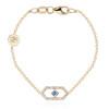 Gianna chain bracelet with blue sapphire