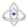 Gianna Ring with Blue Sapphire and Diamonds