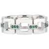 Marcello Eternity Band in 18K White Gold with Emeralds