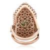 Cleopatra emerald, sapphire and diamond ring