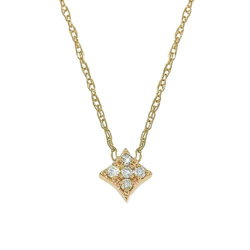 Mini Gianna Diamond Pendant in Yellow Gold