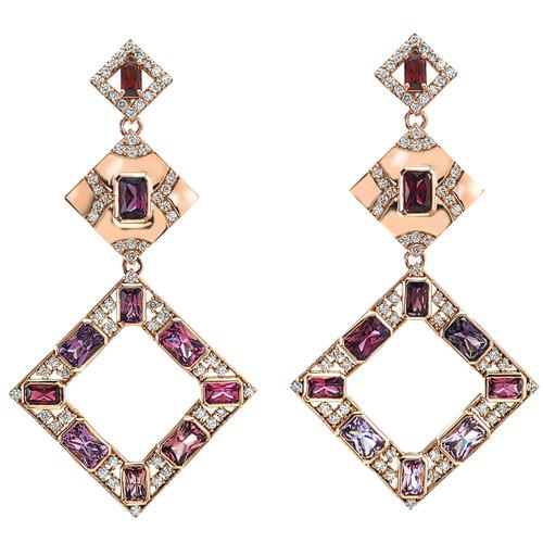 Giovanna Spinel & Diamond Earrings