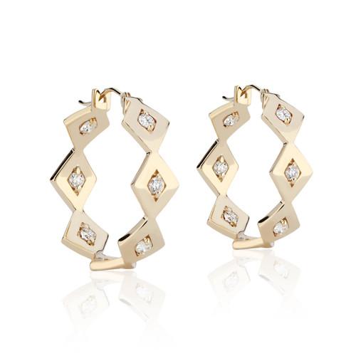 Lucia Diamond Eternity Hoops in 14K Yellow Gold