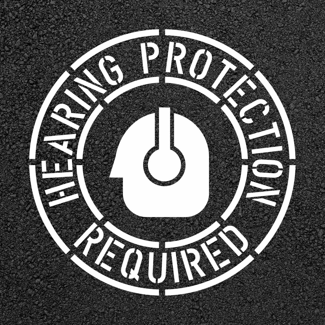 Hearing Protection Required Safety Stencil Stop Painting